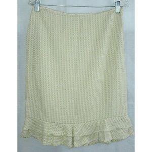 Ann Taylor Yellow Tweed Skirt Size 6